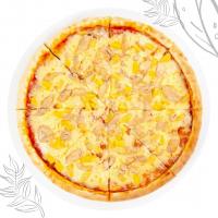 Піца маленька з куркою сиром, ананасом та кукурудзою