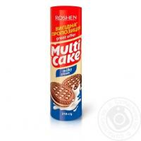 Печиво-сендвіч Roshen Multicake цукрове з молочно-кремовою начинкою 210г