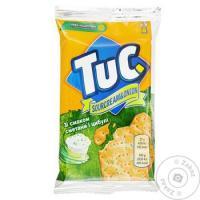 Крекер Tuc солоний зі смаком сметани з цибулею 100г